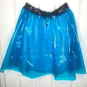 Blue Vinyl skirt from Dolls Kill